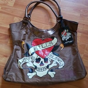 Ed Hardy Tote w/Luggage Tag